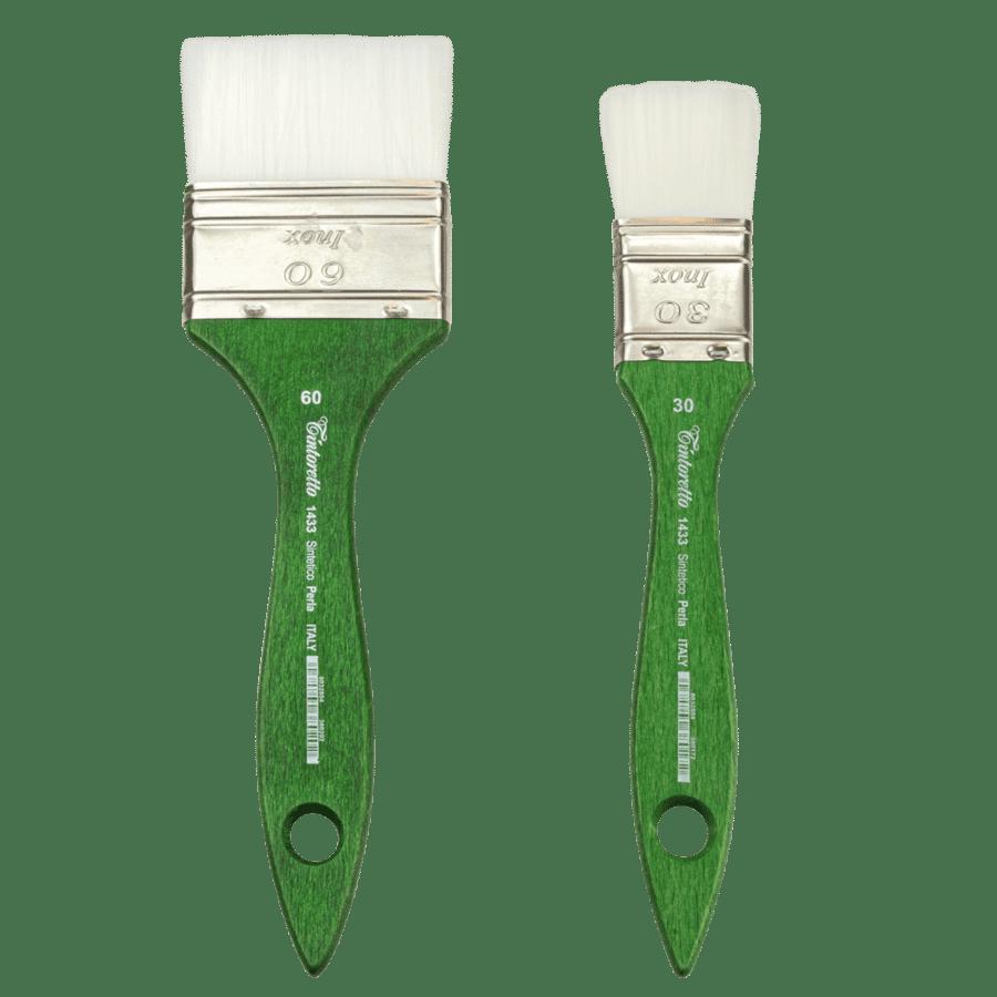 Brush in Perla synthetic bristle