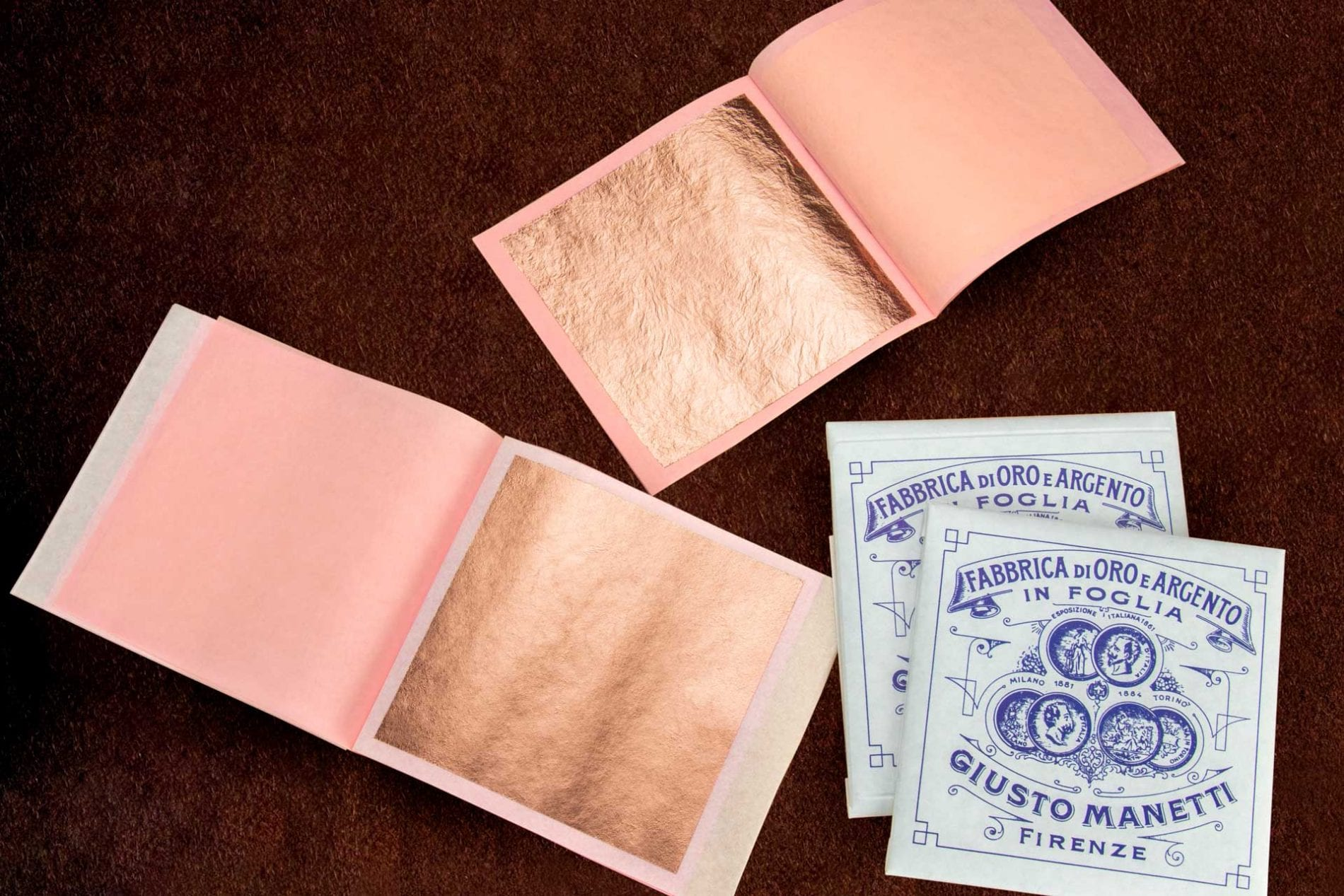 libretti foglia oro rosa